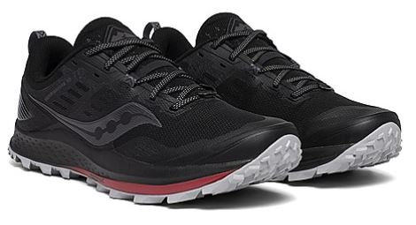 Saucony S20556-20 Peregrine 10 Trail Running Shoes Men's Black/Red