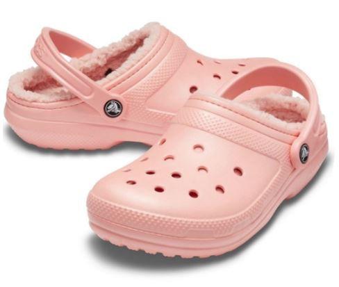 Crocs 203591-6JC Classic Lined Clogs Unisex Melon
