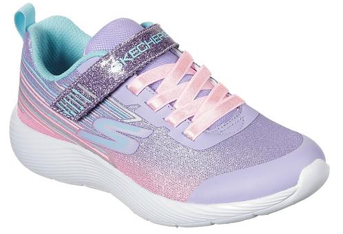 Skechers 302456L/LVMT Dyna Lites Shimmer Streaks Girls Lavender/Multi