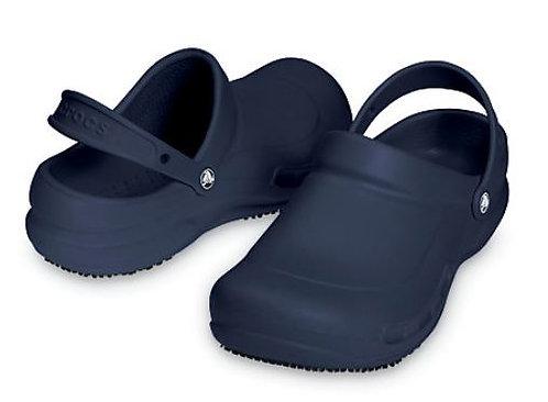 Crocs 10075-410 Bistro Slip Resistant Work Clogs Unisex Navy