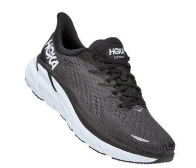 Hoka One One 1121374/BWHT Clifton 8 WIDE Mens