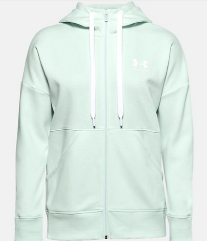 Under Armour 1356400 403 Full Zip Hoodie Womens Seaglass Blue
