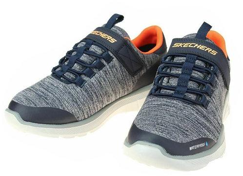 Skechers 97925L/NVGY Equalizer 3.0-Aquablast Waterproof Sneakers Boy's Navy/Grey