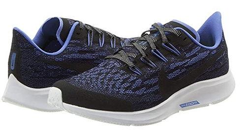 Nike CT9509 049 Air Zoom Pegasus 36 GL (GS) Running Shoes Girl's Black/Sapphire