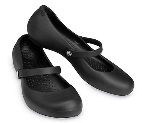 Crocs 11050-001 Alice Work Slip Resistant Flats Women's Black