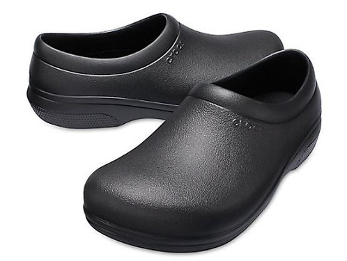 Crocs 205073-001 On The Clock Slip Resistant Slip Ons Unisex Black