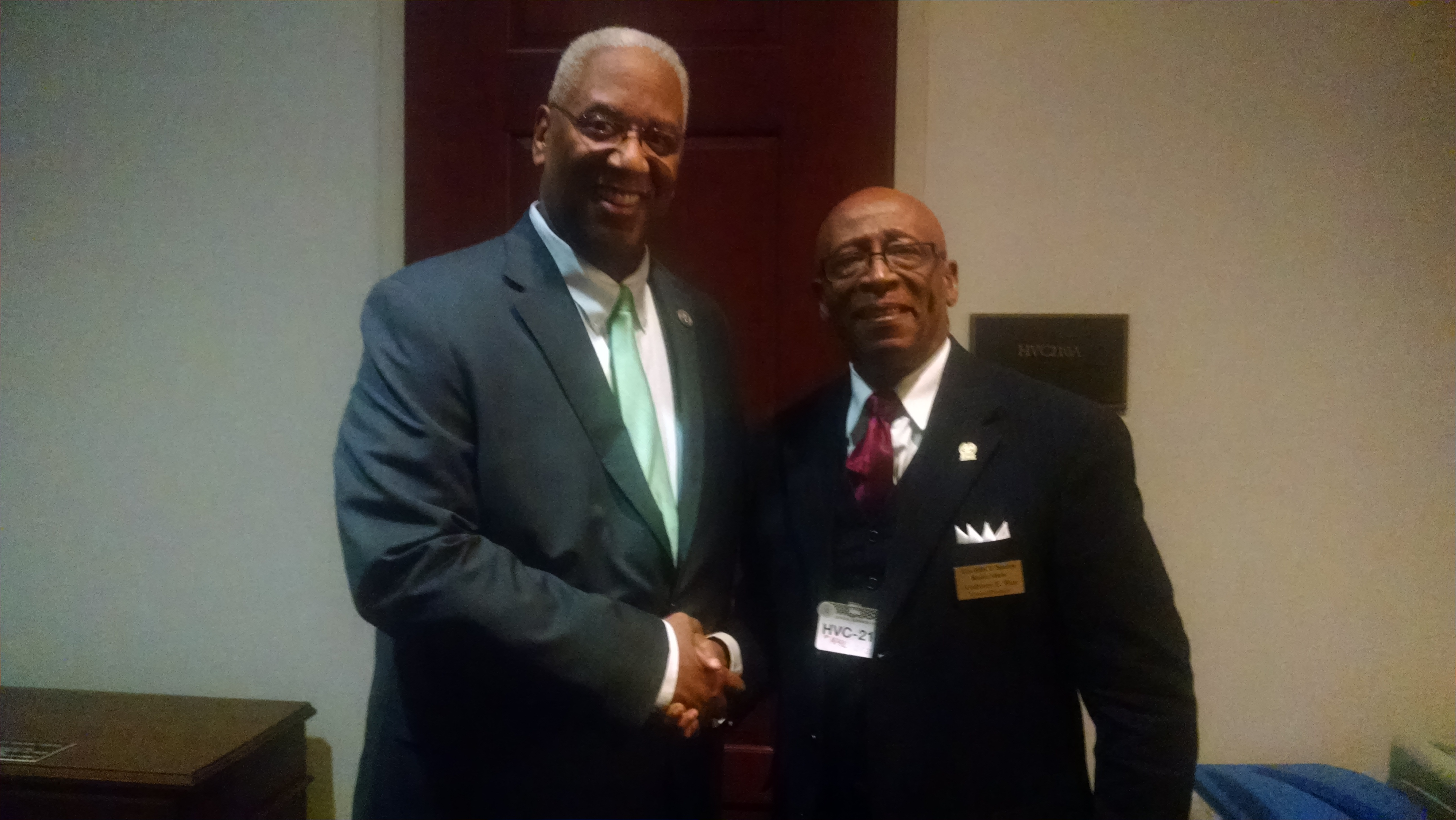 Rep. Donald McEachin and Anthony Ray
