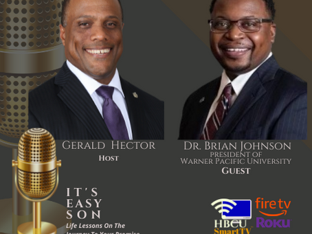Gerald welcomes Dr. Brian Johnson, President of Warner Pacific University