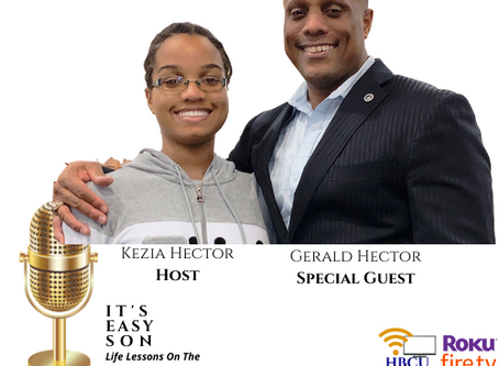 Kezia Hector tonight's Hostess of It's Easy Son with special guest, Gerald Hector