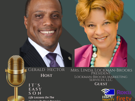 Gerald Hector welcomes Mrs. Linda Lockman-Brooks to It's Easy Son!