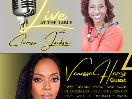 Cherissa Jackson talks with Purple Heart Recipient, Vanessa Harris