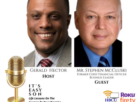 Mr. Stephen McCluski talks with Host, Gerald Hector on IT'S EASY SON...