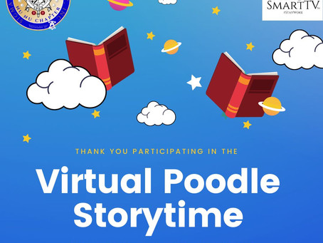 """Join us for the Nu Nu Chapter's Initiative entitled, """"Virtual Poodle Storytime"""" on HBCUSmartTV!"""