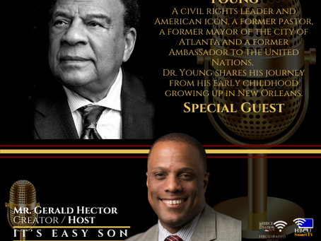 """Gerald Hector welcomes Ambassador Andrew Young to """"It's Easy Son"""""""
