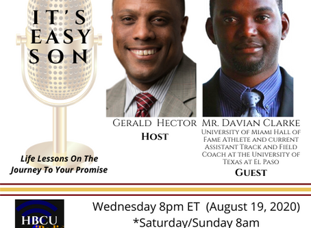 Gerald Hector talks with Jamaican Olympian, Mr. Davian Clark