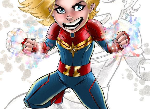 Captain marvel Kincaid Kid 11x17 print
