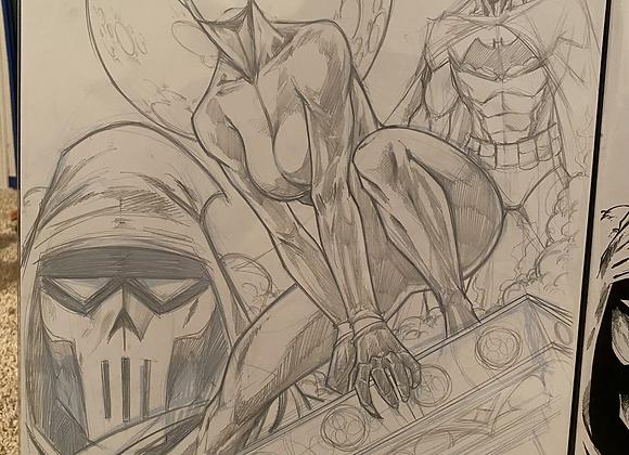 Batman catwoman #1 roughs