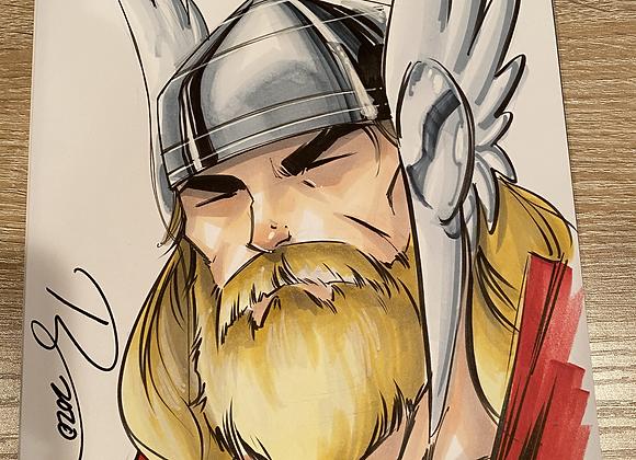 Thor Headshot Sketch
