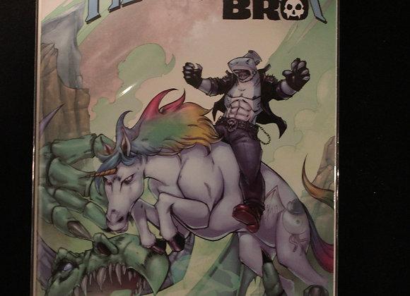 Metal Shark Bro #1 Title