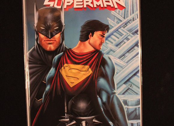 Batman Superman Fortress Title