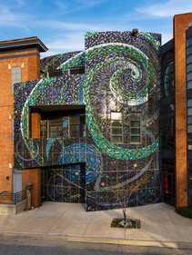Aurora Borealis (Part of LeRoy E. Hoffberger Shining Youth/Shining Walls Mosaics)