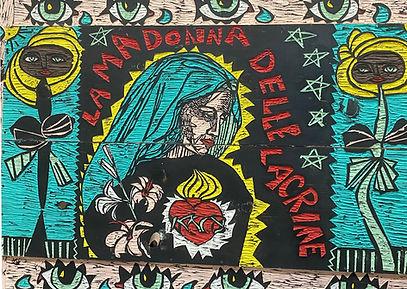 Madonna delle Lacrime (detail) by Adrian Kellard
