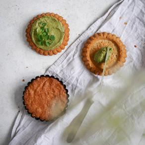Grüne Tartelettes mit Sauerampfer