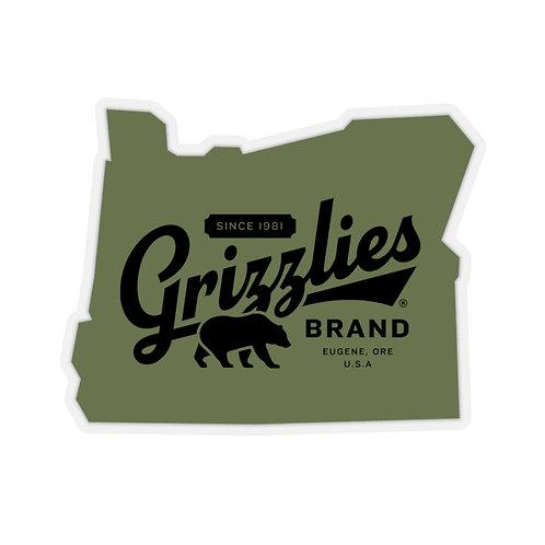 Grizzlies Brand Oregon Vintage-Style Sticker