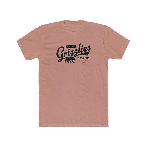 Vintage Style Grizzlies Brand Men's Cotton Crew Tee