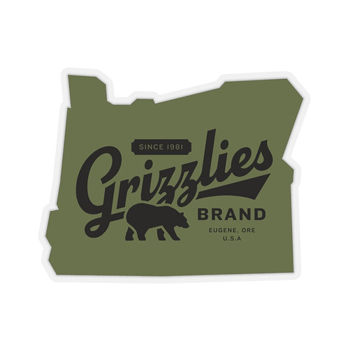 Grizzlies Brand Vintage-Style Sticker