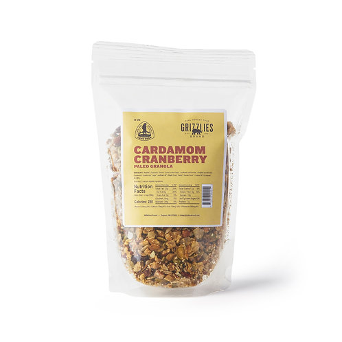 Cardamom Cranberry Paleo Granola