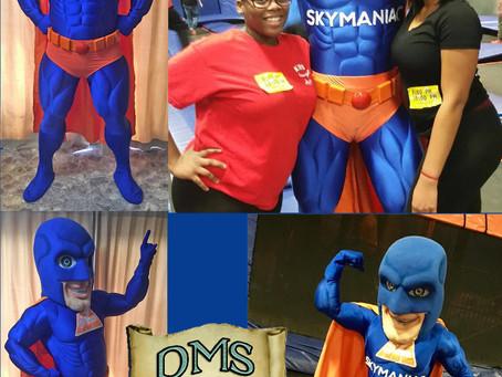 Sky Maniac mascot costume