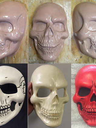 Skull mask collage