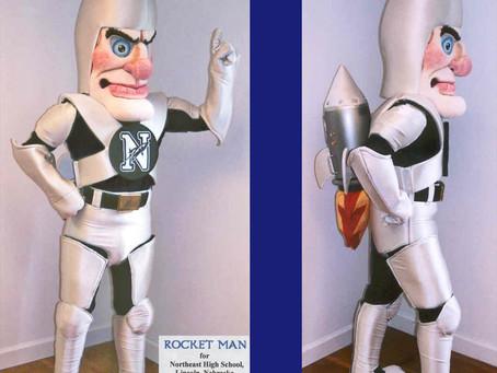 ROCKET MAN mascot costume