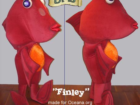 FINLEY mascot costume