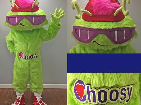 CHOOSY mascot costume