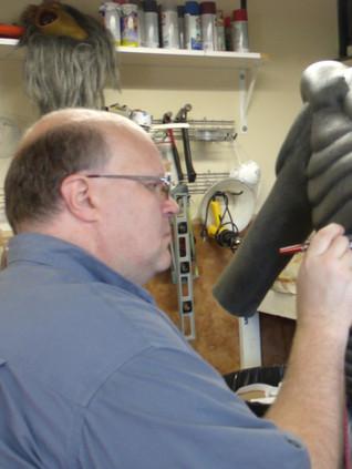 Airbrushing the MOTHMAN