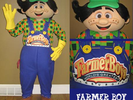 Farmer Boy Roy mascot costume