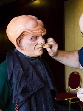 Ferengi makeup application