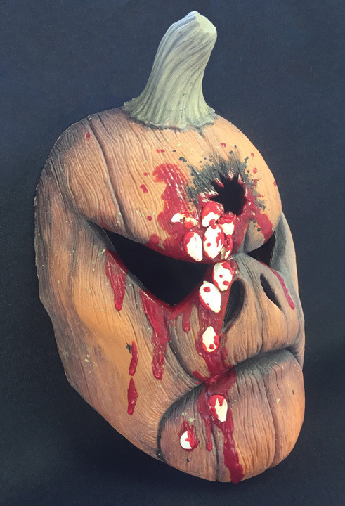 EVIL PUMPKIN mask bleeding seeds