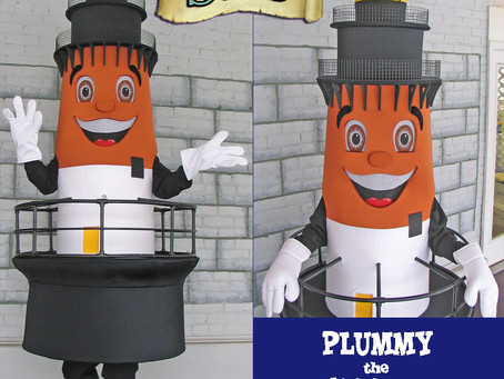 PLUMMY the Lighthouse mascot costume