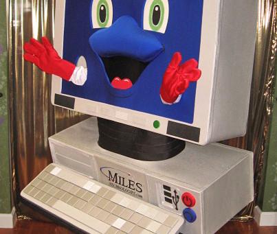 """QWERTY"" COMPUTER mascot costume"