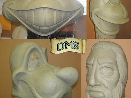 Mascot Head sculptures 3
