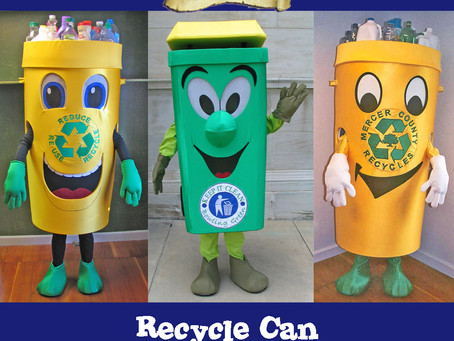Recycle Program mascot costumes