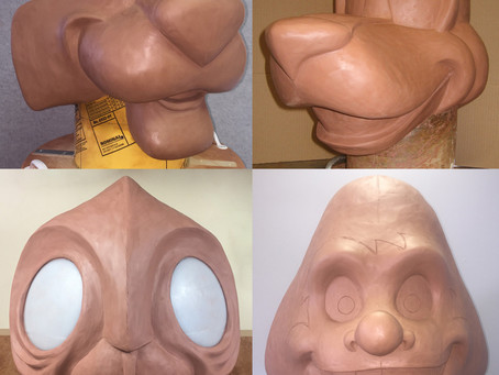 Mascot Head sculptures 1