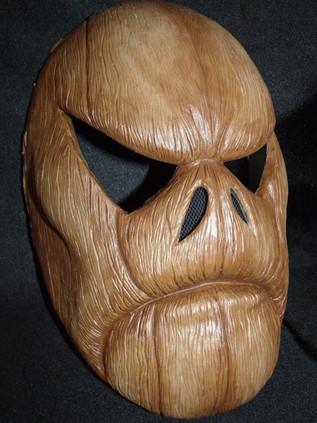 Wooden PUMPKIN MASK