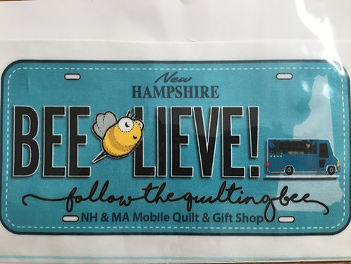 Follow The Quilting Bee License Plate