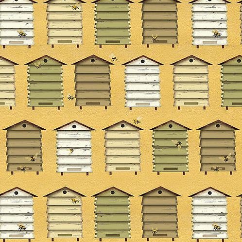 Bee Hives Boxes Yellow