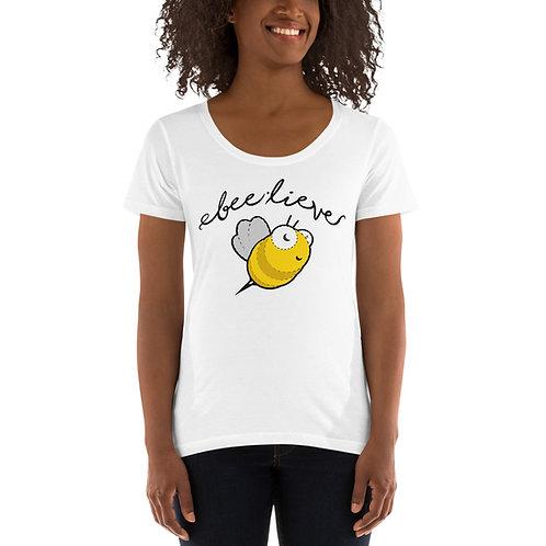 Bee-lieve Ladies' Scoopneck T-Shirt