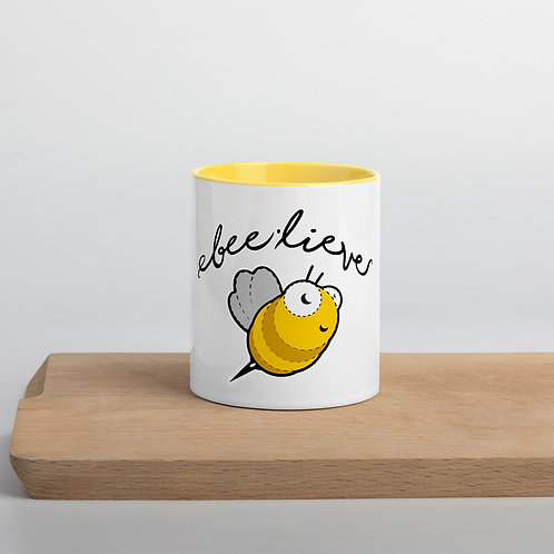 Bee-lieve Mug with Color Inside